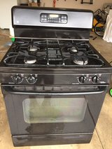 black Gas Range in Oswego, Illinois