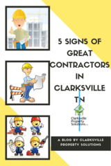 5 Signs of Great Contractors in Clarksville TN in Fort Campbell, Kentucky