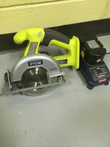 Ryobi 18V 5 1/2 inch circular saw (with battery and charger) in Glendale Heights, Illinois