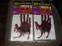 """NEW HALLOWEEN """"BLOODY HANDS"""" 3D GEL CLING ONS in Camp Lejeune, North Carolina"""
