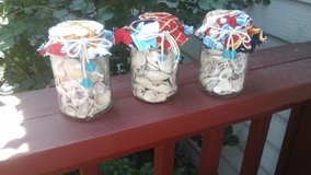New made by crafter Nautical themed Seashells in mason jar display decor in Naperville, Illinois