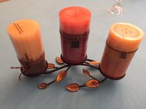 """3"""" Pillar Candles (NEW) with Candle Holder in Aurora, Illinois"""