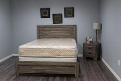 New Queen Bed With Mattress and Nightstand in Kingwood, Texas