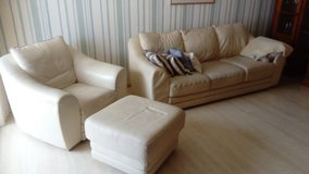 Leather Couch and Armchair ensemble in Ramstein, Germany