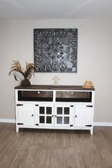 White Distressed Tv Stand-Buffet in Kingwood, Texas
