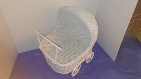 Wicker baby doll carriage in Conroe, Texas