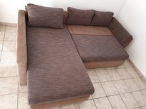 L-Couch + Bed/Storage + Delivery! in Ramstein, Germany