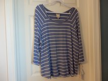 NWT Blue and white stripped top in Yorkville, Illinois