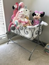 Children's crib, bassinet, changing table and 2 coat racks in Westmont, Illinois