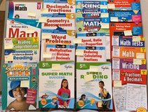 Math, reading, and writing 5th & 7th grade workbooks in Travis AFB, California