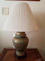 Oriental table lamp in Chicago, Illinois