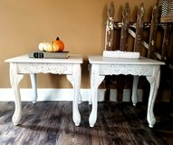 Set of refinished end tables in Chicago, Illinois