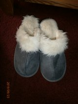 GREY SLIPPERS WORN ONCE SIZE 5-6 in Lakenheath, UK