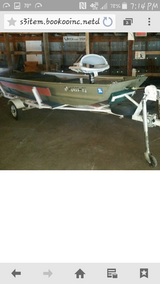 Flatbottom boat and trailer in Fort Leonard Wood, Missouri