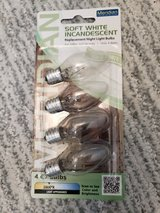 Meridian 4W Equivalent General Purpose Warm White C7 LED Light Bulb - 4 Pack in Aurora, Illinois