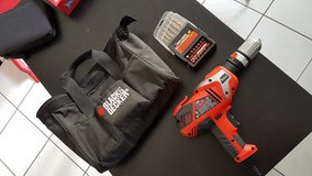 Corded Drill, Black and Decker, 110V and Drill Bit set in Stuttgart, GE