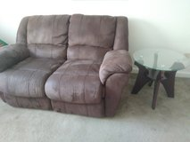 Reclining loveseat with table in Fort Benning, Georgia