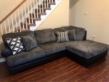 Less Than 1 Yr Old Chaise Couch in Fort Campbell, Kentucky