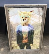 Hipster Fox with Wooden Frame in Clarksville, Tennessee