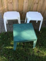 White & Green Patio Side Tables in Bolingbrook, Illinois
