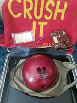 VINTAGE EBONITE URETHANE BOWLING BALL in Clarksville, Tennessee