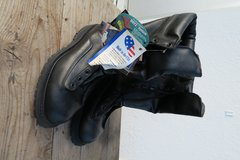 10 1/2 to 11 size feet ok new boots never used  made in the USA in Okinawa, Japan