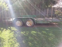 """utility trailer 16 ft dual axle 3500lbs per axle  in good shape """" sold as is """" in Fort Campbell, Kentucky"""