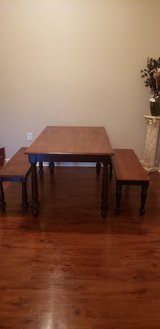 Farmhouse table with benches. in Hopkinsville, Kentucky