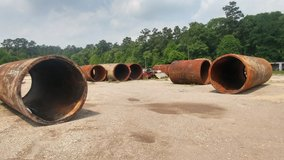 large 8' steel culverts in Cleveland, Texas
