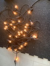 (2) 48 foot outdoor industrial string lights were/ replacement bulbs in Okinawa, Japan