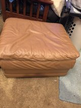 Leather ottoman in Travis AFB, California