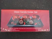 NEW GLASS CANDLE HOLDER SET in St. Charles, Illinois