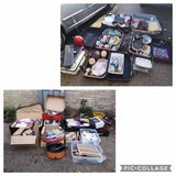 huge carboot bundle. 7 suitcases full, 8 boxes full and loose stuff in Lakenheath, UK