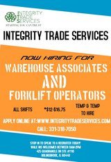 Warehouse & Forklift in Bolingbrook, Illinois