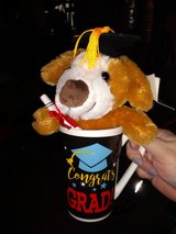 Graduation mug and plush dog in Clarksville, Tennessee