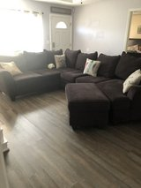 Ashley brown sectional couch in Fort Benning, Georgia