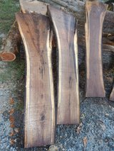 Live edge walnut crotch slabs in Fort Campbell, Kentucky