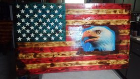 Wood American flag in Fort Leonard Wood, Missouri