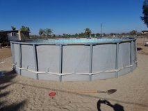 22 foot above ground pool in Yucca Valley, California