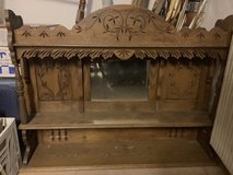 Antique Eastlake Carved Oak Organ Top made into Shelf in Stuttgart, GE