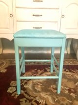 Shabby Aqua Stool with Storage in Spring, Texas