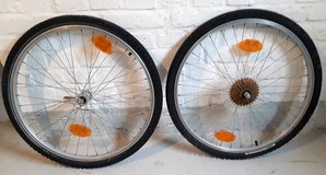 """Bicycle wheels 26"""" with tubes and tires in Wiesbaden, GE"""