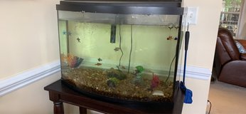 45 gallon fish tank with filter, heater, cleaning supplies and fish in Macon, Georgia