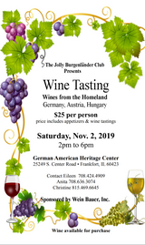 Wine Tasting from Germany, Austria, and Hungary in Yorkville, Illinois