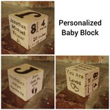 Personalized Baby Block in The Woodlands, Texas