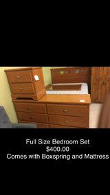 Full Size Bedroom Set with Mattress and Boxspring in Fort Leonard Wood, Missouri