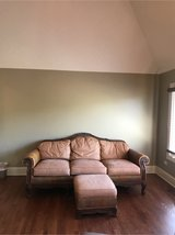 Magellan's Furniture Enterprise antique style Ostrich leather couch in Joliet, Illinois