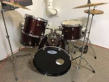 Sound Percussion 8-piece Drum Set / Wine Red in Yorkville, Illinois