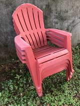 4 red plastic Adirondack  chairs in Naperville, Illinois