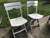 2 Outdoor, foldable patio chairs in Naperville, Illinois